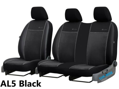 VW CRAFTER FACELIFT 2017 2018 2019 ECO LEATHER /& ALICANTE TAILORED SEAT COVERS