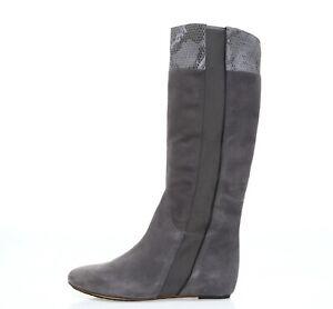 Womens TSUBO elephant gray suede knee high boots sz. 10