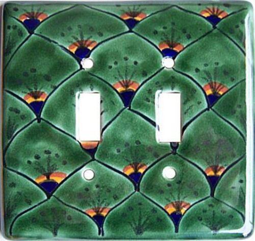 Peacock Talavera Ceramic Double Switch Plate
