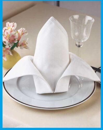 300 new white protex premium mercerized 100/%cotton napkins 20x20 catering grade