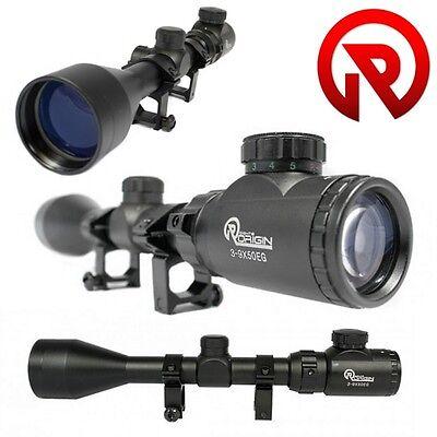 Ottica SWISS ARMS Riflescope Zoom 6-24 x 50 per Fucile Carabina 2 Kit Anelli