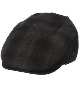 7c7ea2b5475ea Dockers Men s Plaid check wool blend Patterened Ivy Cap black brown ...
