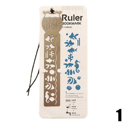 Vintage Stationery Number//Letter Hollow Ruler Drawing Template DIY Bookmark Pro.