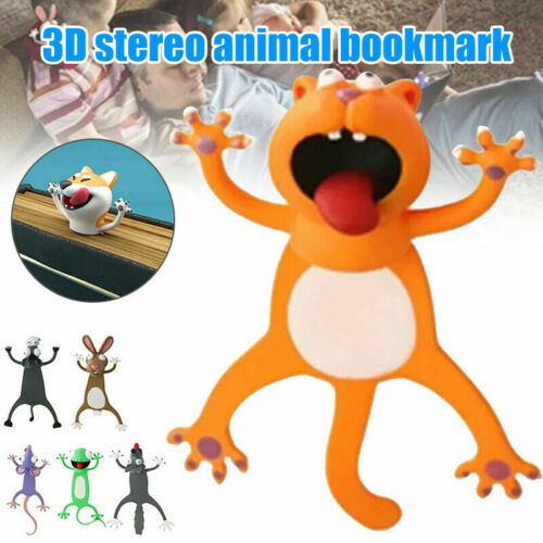 DE 3D Stereo Kawaii Cartoon Lovely Animal Bookmark Wacky Bookmark Palz A +