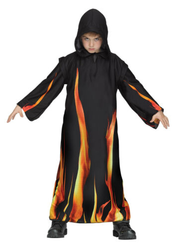 Child Burning Hooded Robe Vampire Costume