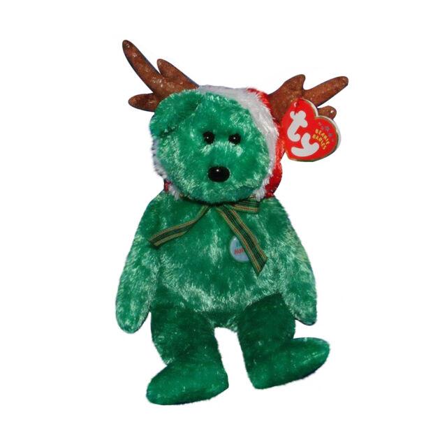 2002 Holiday Teddy Bear Ty Beanie Baby Christmas MWMT Birthday December 20  2001 66df4e3c2b55