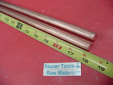 2 Pieces 12 C110 Copper Round Rod 18 Long H04 Solid Cu New Lathe Bar Stock