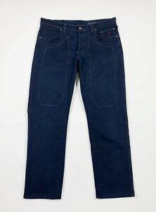 Jeckerson jeans uomo usato W36 tg 50 gamba dritta blu pantalone boyfriend T6815