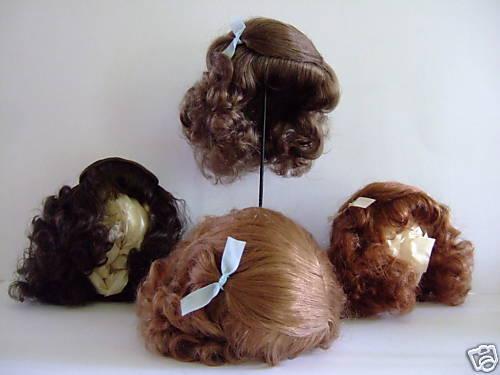 PERRUQUE 100% cheveux naturels pour POUPEE ANCIENNE -DOLL WIG -MI T12 (38cm)