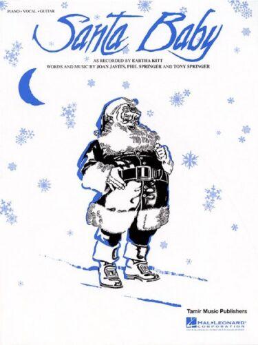 Santa Baby Sheet Music Piano Vocal Eartha Kitt NEW 000355962