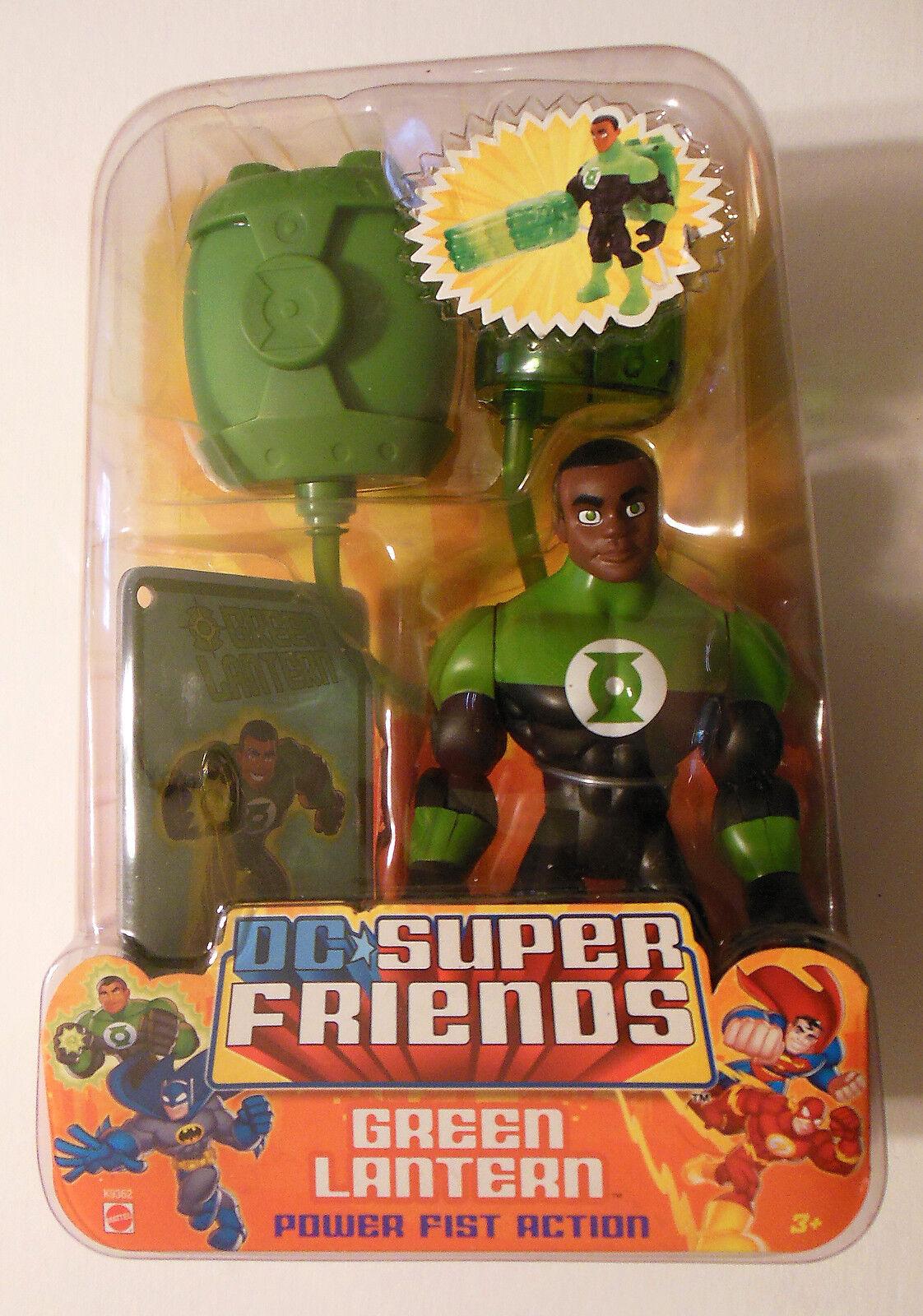 DC SUPER FRIENDS verde LANTERN - JOHN STEWART POWER FIST ACTION FIGURE MIB RARE