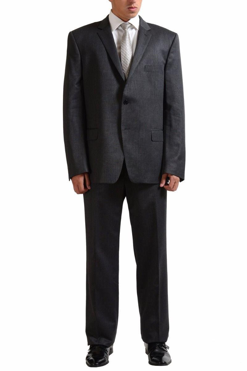 Versace Collection Herren Wolle Zwei Knopfen Anzug Größe 44 46
