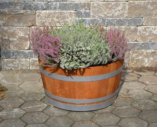 Wine Barrel Plant Pot Flowerpot Wood Oiled Wooden Barrel Oak Barrel Barrel Halves