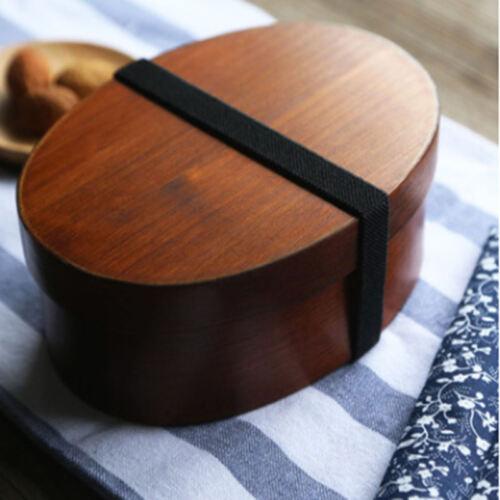 Japanische Bento-Box Vesperdose Brotdose Vesperbox Proviantdose Holz Lunchbox