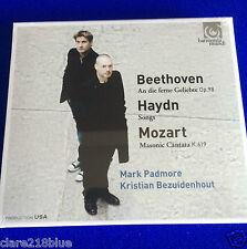 NEW SEALED Beethoven Haydn Mozart Padmore Bezuidenhout Op98 K619 Songs CD 2015