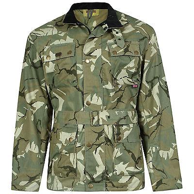 DeMina MENS Dark Camouflage Biker Jacket Quilted Shooting Hunter Biker S-XXL Alf