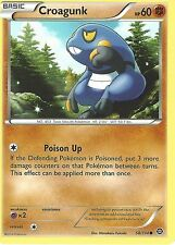 POKEMON XY STEAM SIEGE CARD - CROAGUNK 58/114