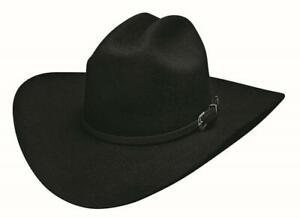 STATE OF GRACE Black QUALITY Premium Wool Western Cowboy Hat Bullhide MonteCarlo