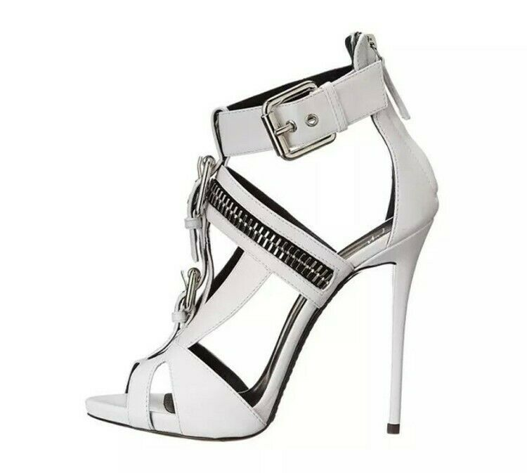 US4.5-10.5 Fashion donna Sandals scarpe Hollow Out Buckles High Heels Stilettos