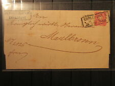 Dt. Reich Nr. 33 EF Gr. Bad. Bezirksamt Carlsruhe  1879   (RR97)