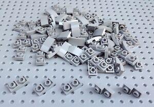 Lego-Light-Bluish-Grey-1x2x2-3-Inverted-Curved-Slope-Brick-24201-x15-NEW-City