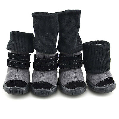 Hot Winter Pet Dog Puppy Anti-slip Cotton Shoes Sneakers Cat Warm Snow Boots Dog