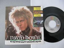 """7"""" David Bowie Underground VG+ ! Vinyl Singles"""