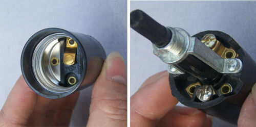 Twist type E27 lamp socket Rotary Switch 250W 250V Phenolic lampholder