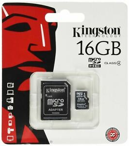 KINGSTON-MICRO-SD-16GB-SDHC-MEMORY-CARD-MOBILE-PHONE-CLASS-4-WITH-SD-ADAPTER