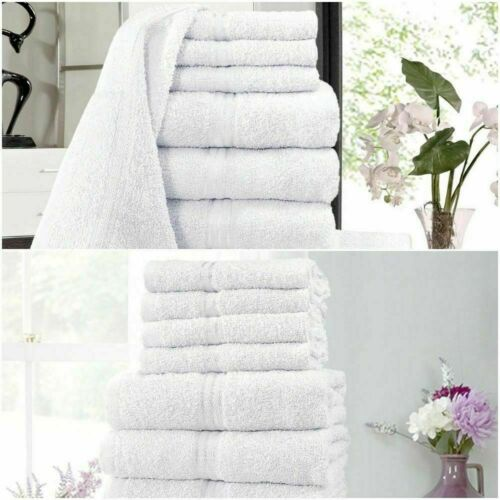LUXURY TOWEL BALE SET 100/% COTTON 10PC FACE HAND BATH SHEET BATHROOM TOWELS SETS