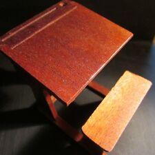 School Desk ~ Doll House Miniature ~ 1/12 scale