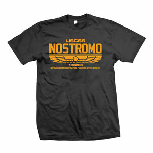 Distressed Nostromo 180286 Mens T-Shirt Alien Film Movie USCSS Weyland-Yutani