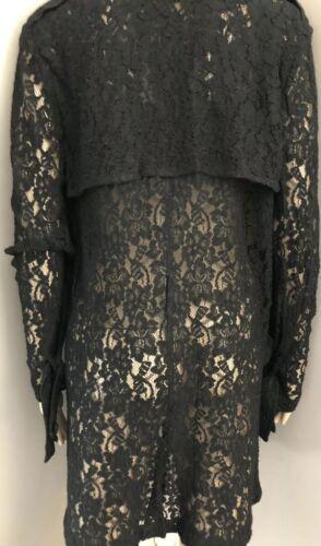 Vintage Black Lace Jacket by Vicky Tiel sz 4