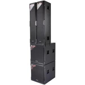 7 1/2 Feet Tall BLASTKING KXDIITP  4000 Watts Two 4 x 8 Tower Speaker with Two 18 Subwoofer System Canada Preview