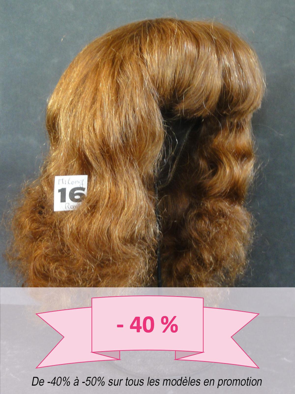 -40% Promo Peluca de Muñeca T16 (49.5cm) 100% Cabellos mi Larga Ch-Roux