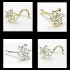 14kt-Solid-Gold-Flower-Nose-Ring-w-CZ-Gems-20g-20-gauge-stud-screw-bone-white
