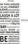 Wall Quote Art Decal Vinyl Sticker Removable Decor FAMILY HOUSE RULES PROMISE #2