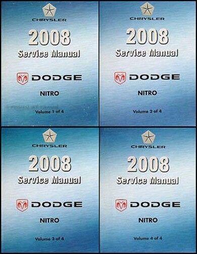2008 Dodge Nitro Shop Manual de Reparación Juego a Mitad Precio y Original Nuevo