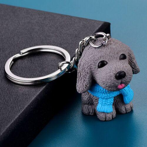 Scarf Dog Animal Lovely Resin Key Holder Fashion Jewelry Key Chain Key Ring
