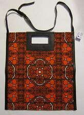 NWT Alexander McQueen Leather + Canvas Unisex Stained Glass Print Crossbody Tote
