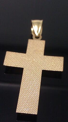 10K Yellow//White  Diamond Cuts Gold Jesus Cross Charm Pendent Men/'s//Women/'s