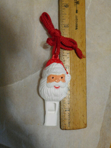 vintage New Santa Claus whistle with strap Old Stock 50s