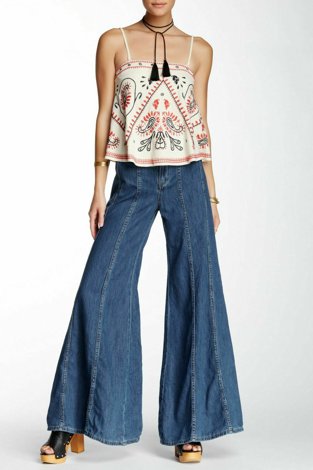 NWT FREE PEOPLE  Gilmour  High Rise Wide Leg Jeans, sz 2 and sz 4