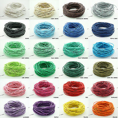 1.5mm Waxed Polished Cotton Braided Cord Macrame Beading Artisan String 20 Yards