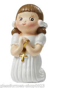 FIGURINE communion confirmation * fille génuflexion - 3,5 CM * 3870363 NEUF  </span>