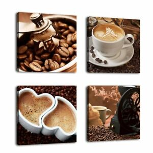 Image Is Loading Kitchen Coffee Wall Art Picture Print Canvas Framed