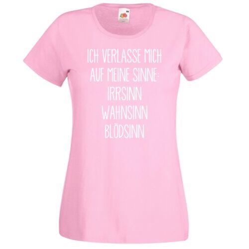 Lustiges TRVPPY Damen T-Shirt Shirt Modell Ich Verlasse mich auf meine Sinne