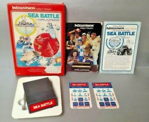 Sea-Battle-Intellivision-Complete-Game-w-Game-Box-Manual-amp-Keypad-Covers
