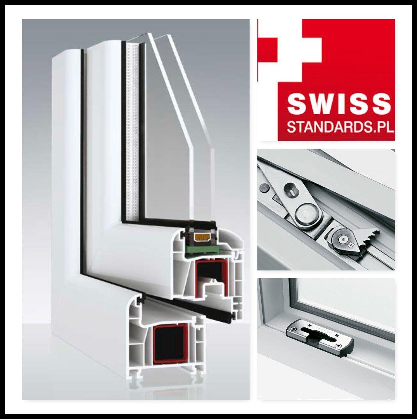 Kunststofffenster  Weiß 1 Flg. Dreh Kipp Fenster 2 oder  3 Fach Verglast.