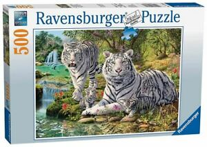 Ravensburger 500 piece jigsaw puzzle White Tiger Family